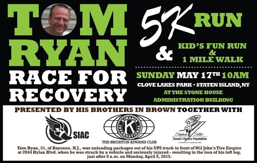 Tom Ryan Race For Recovery May 17