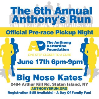 Anthony's Run Pre-Race Pick-up Night – June 17th!